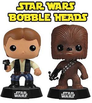 Star Wars Bobble Heads Han Solo Chewbacca