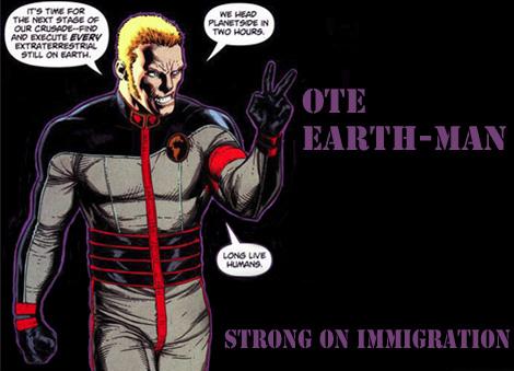 Legion election - Earth-man