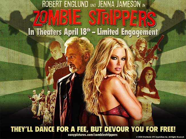 Zombie Strippers movie Robert Englund Jenna Jameson