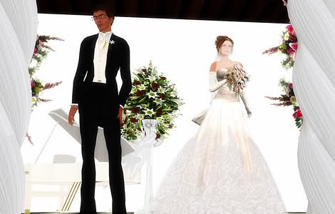 Second Life wedding affair