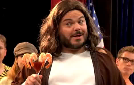 Jesus has a gay old time Jack Black