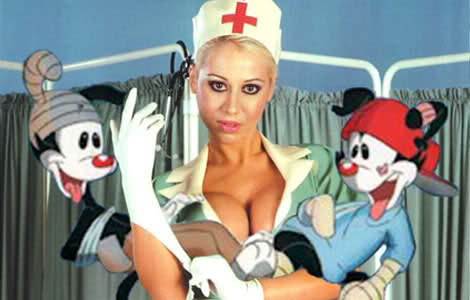 Prague nurse breast implants