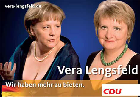 Angela Merkel and Vera Lengsfeld - German breasts