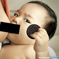 Breast Milk and Cookies (Oreo Breastfeeding ad)