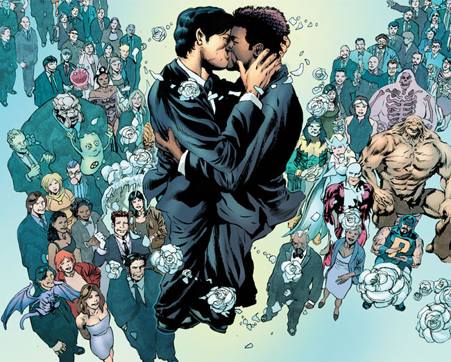 Gay Super Hero Gets Hitched Without a Hitch