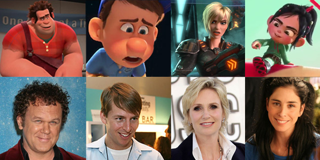 Wreck-It Ralph cast (John C. Reilly, Jack McBrayer., Jane Lynch, Sarah Silverman)