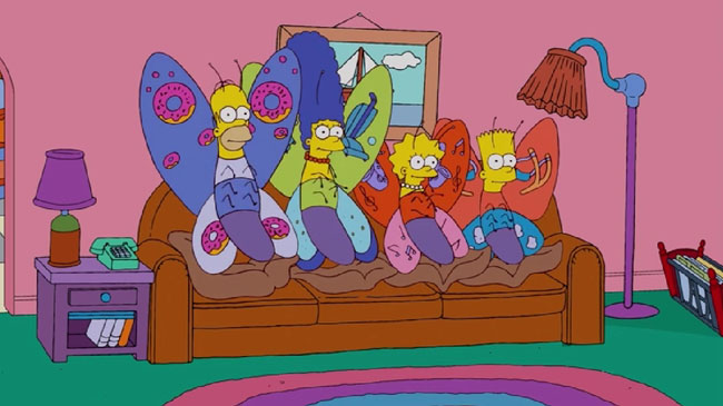 Simpsons Couch Gag Butterflies L7 World
