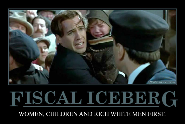 Fiscal Iceberg Demotivational Poster - Titanic
