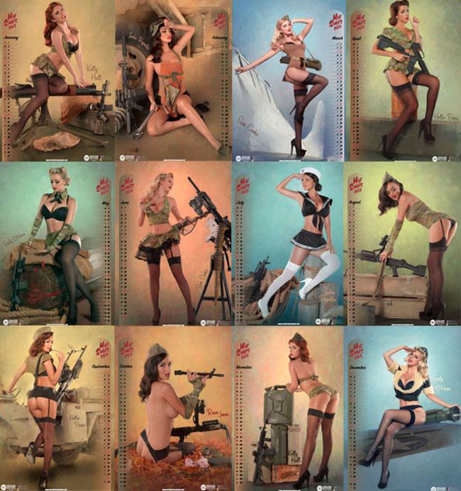 Hot Shots Calendar 2013