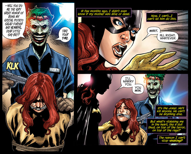Joker and Batgirl have Shotgun Wedding