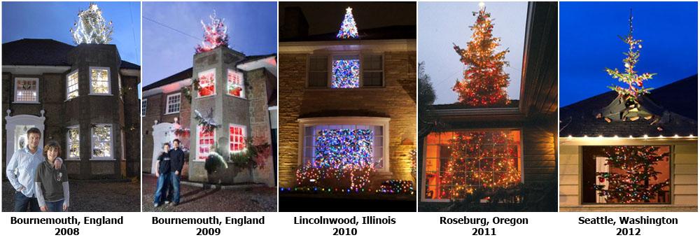 Christmas Decorations Tree Through Roof : Tree mendous christmas l world