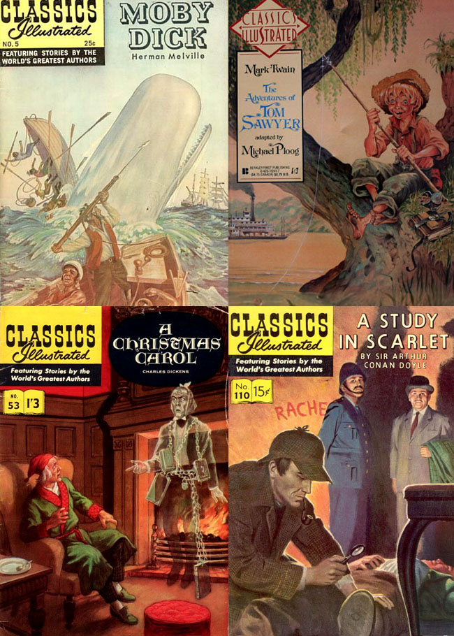 Classics Illustrated - Deadpool Killustrated cover sources