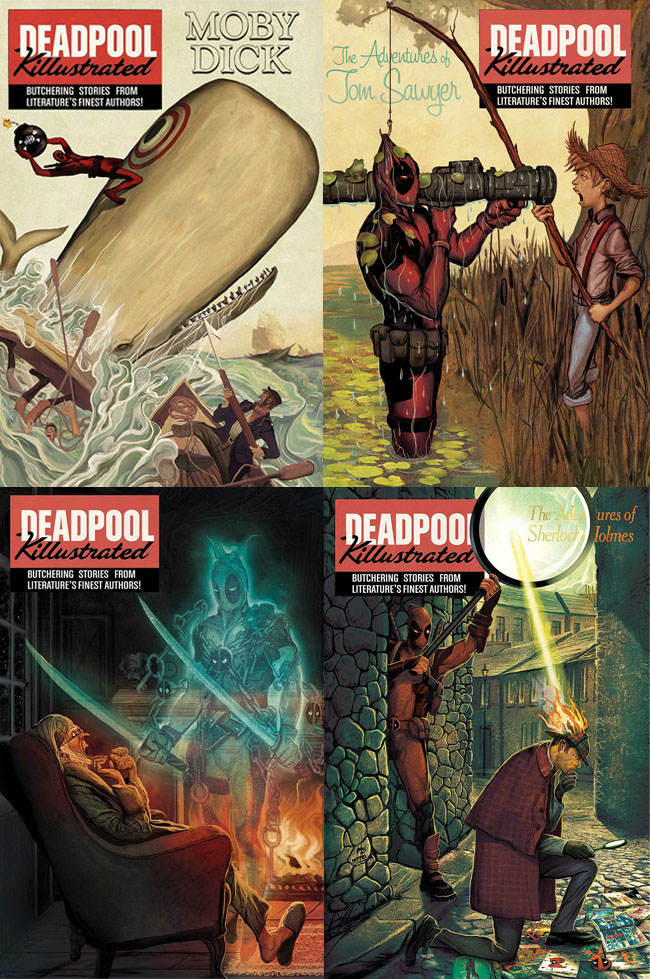 Deadpool Killustrated covers