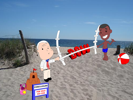 McCain & Obama at the Beach