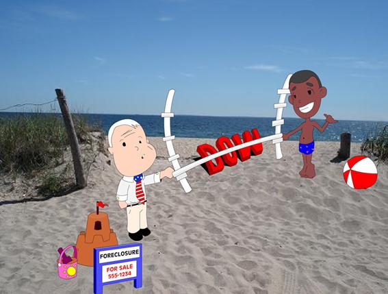 McCain & Obama at the Beach