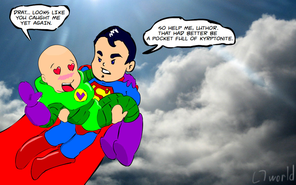 Super Gay Superman and Lex Luthor comic