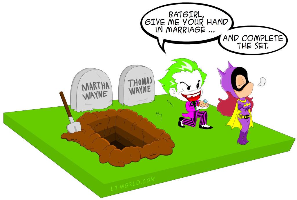 The Joker and Batgirl Wedding Mini Comic 01
