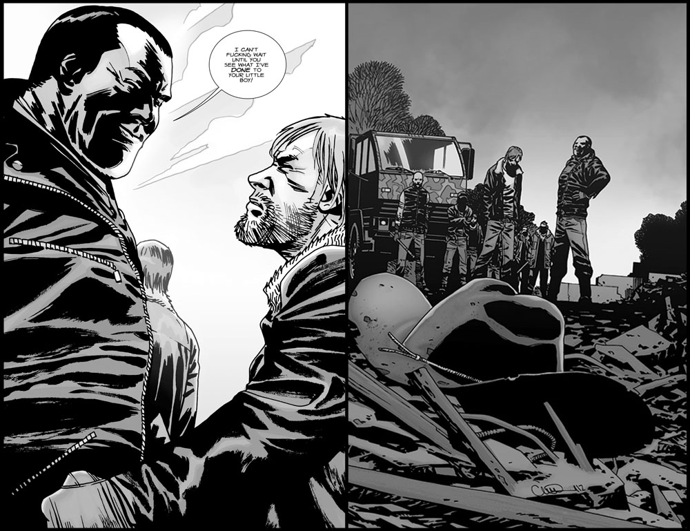 The Walking Dead Kills Carl or Worse - The Walking Dead #107 cover