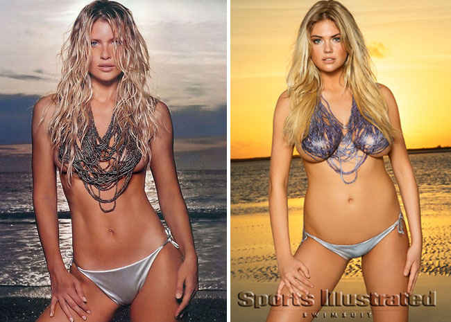 Sports Illustrated Swimsuit Issue - Daniela Pestova cover and Kate Upton body paint