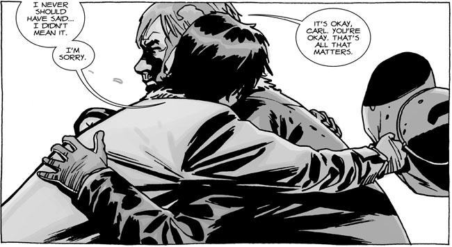 The Walking Dead - Rick and Carl reunite