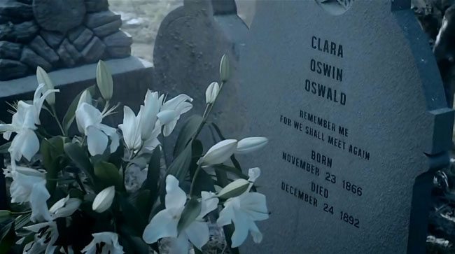 Doctor Who - Clara Oswin Oswald tombstone