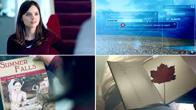 Doctor Who Season Premiere Clues (Clara necklace, 101 Place to See, Summer Falls by Amelia Williams, RYCBAR123)
