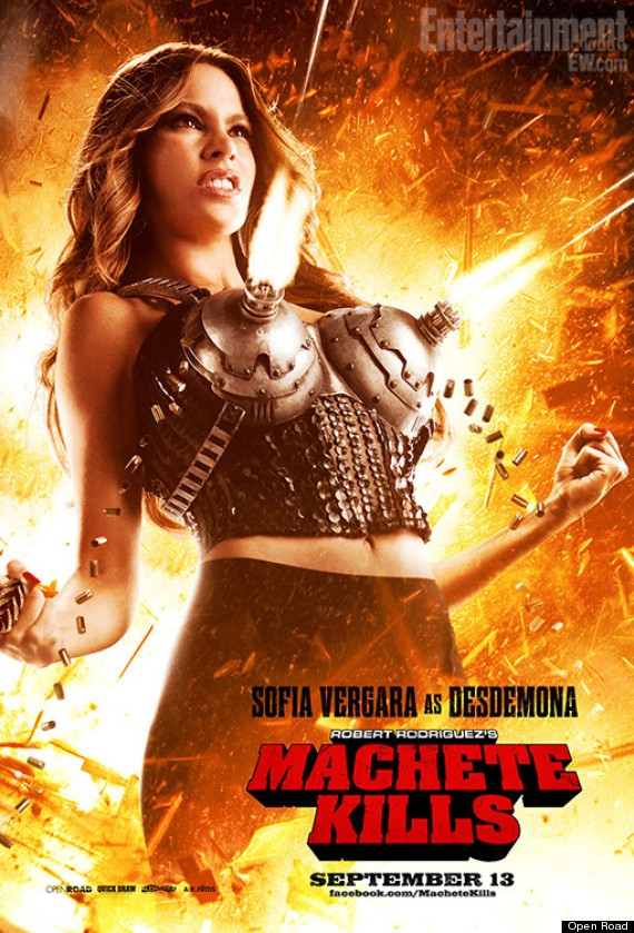 Machete Kills Sofia Vergara machine gun bra