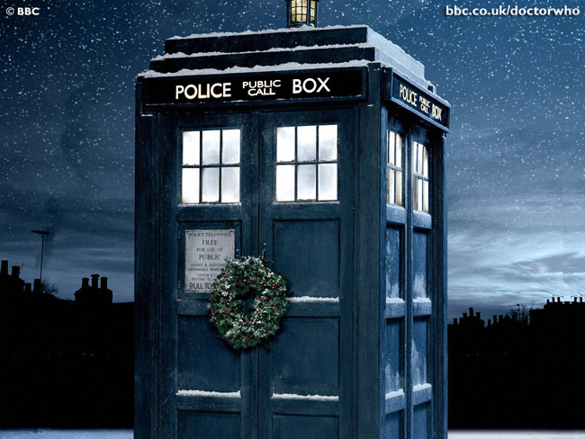 Twelfth Doctor Debut in Christmas Special TARDIS Blue Christmas