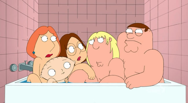 Family Guy Incest -(12 and a Half Angry Men - Bathtub)