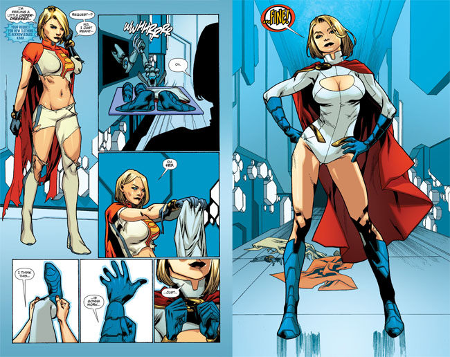 Power Girl Boob Window Back