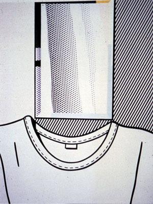 Roy Lichtenstein self-portrait
