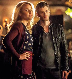 The Vampire Diaries The Originals Camille (Leah Pipes) Klaus (Joseph Morgan)