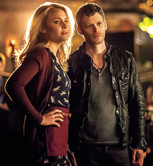 The Vampire Diaries The Originals Camille (Leah Pipes) Klaus (Joseph Morgan)