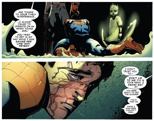 Amazing Spider-Man VS Superior Spider-Man - girl operation (Superior Spider-Man #19)