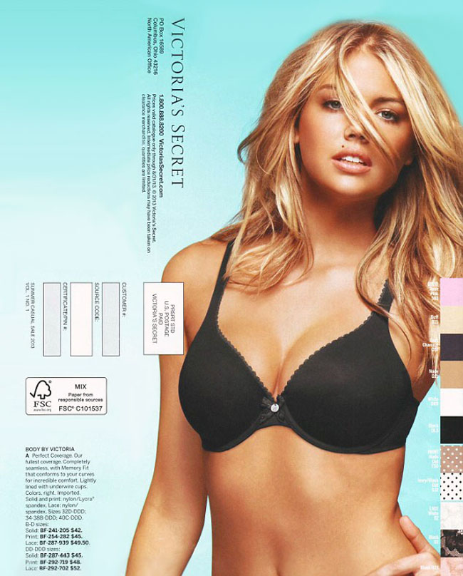 Kate Upton Victorias Secret Ad Busted