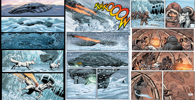 Man of Steel Prequel Comic (crash landing)