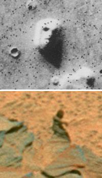 Martian face and Martian man