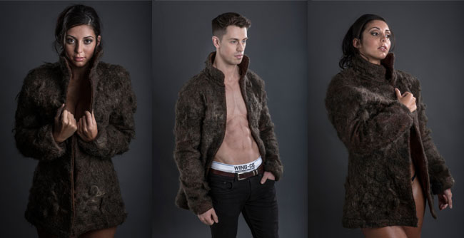 Fur Coat Made of Chest Hair