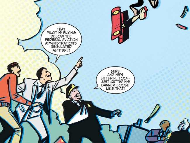 Batman '66 #1 (plane littering)