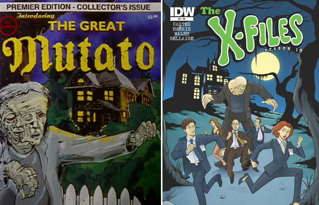 X-Files Season 10 issue 4 - Scooby Doo Variant (The Post-Modern Prometheus - The Great Mutato)