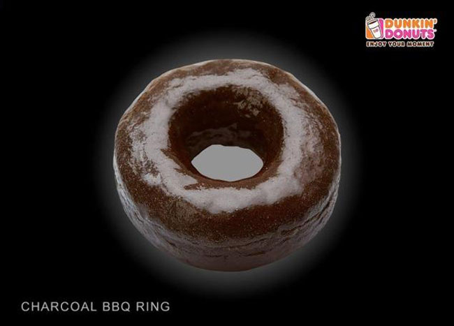 Dunkin Donuts Racist Charcoal Donut