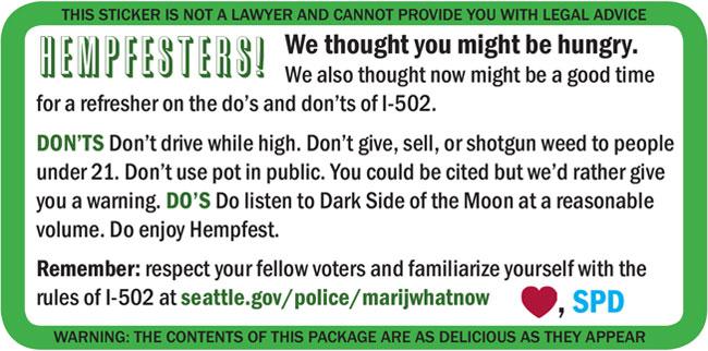 Hempfest Doritos Sticker