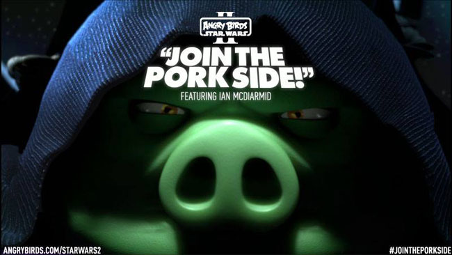 Join the Pork Side in Angry Birds Star Wars II