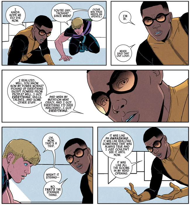 Reverse Gay Conversion Prodigy kisses Hulkling Young Avengers 9