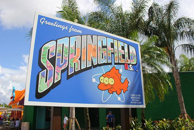 Simpsons Theme Park Attraction Complete