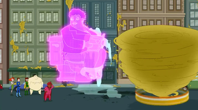 The Awesomes potty humor
