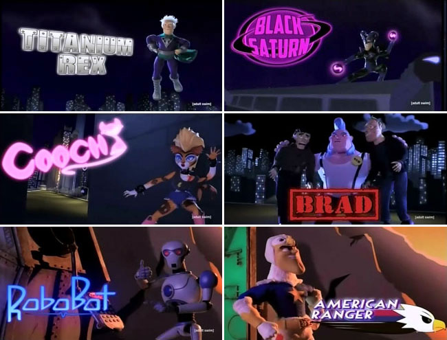 Ubermansion - The League of Freedom (Titanium Rex, Black Saturn, Cooch, Brad, RoboBot, American Ranger)