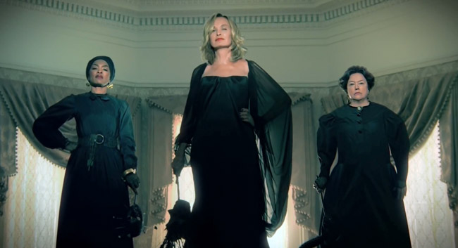 American Horror Story Coven Trailer - Fiona (Jessica Lange) Delphine LaLaurie (Kathy Bates) Marie Laveau (Angela Bassett)