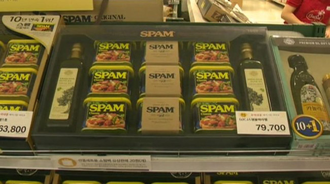 South Koreans Celebrate the Holidays with SPAM