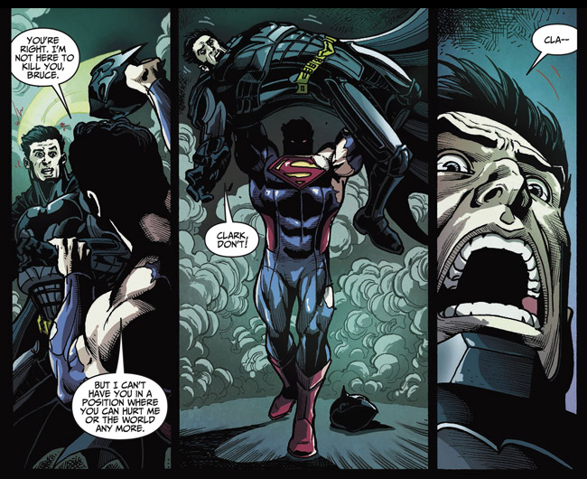 Superman Breaks Batman's Back (Injustice Gods Among Us 35)